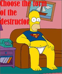 The Simpsons Homer Superman