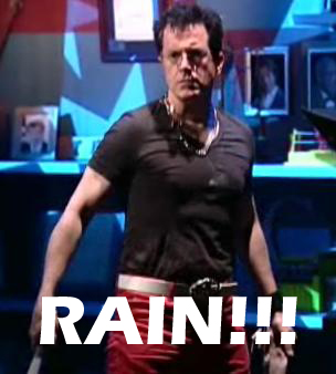 Colbert vs Rain